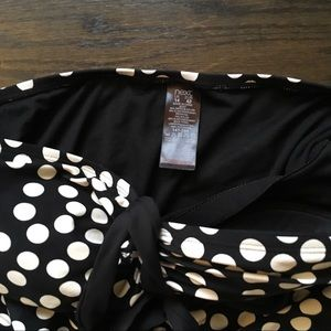 next Swim - One Piece Black and White Polka Dot Suit Size 10